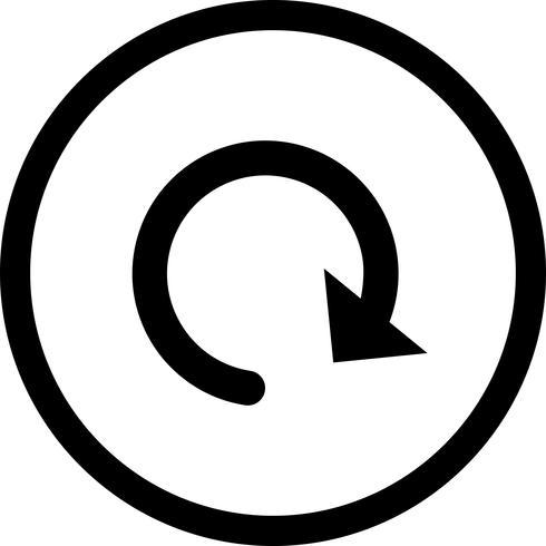Vektor-Symbol neu laden vektor