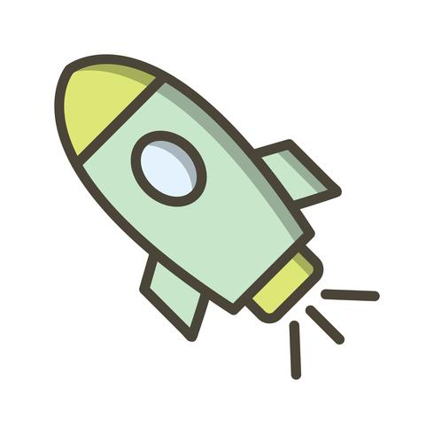 Raumschiff-Vektor-Symbol vektor