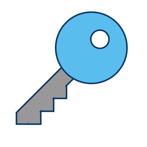 Vektor-Schlüssel-Symbol vektor