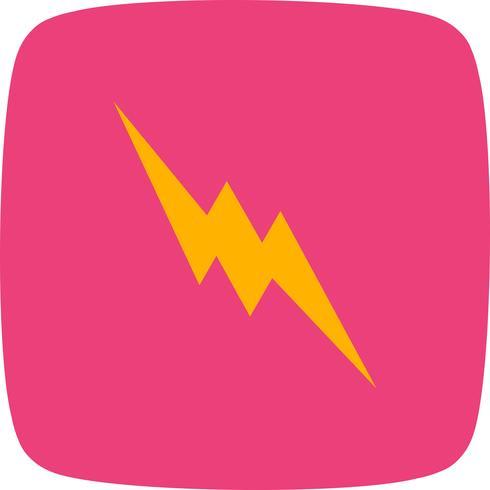 Blitz-Schaltflächensymbol vektor