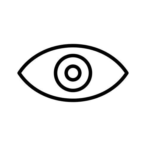 Vektoransicht-Symbol vektor