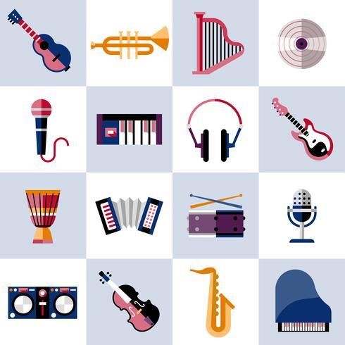 Musikinstrumente eingestellt vektor