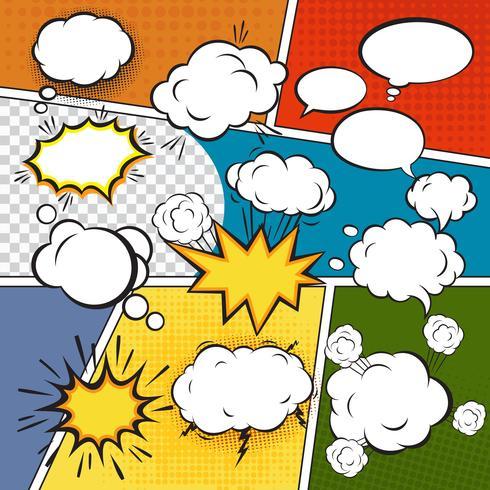 Comic set bubblor vektor