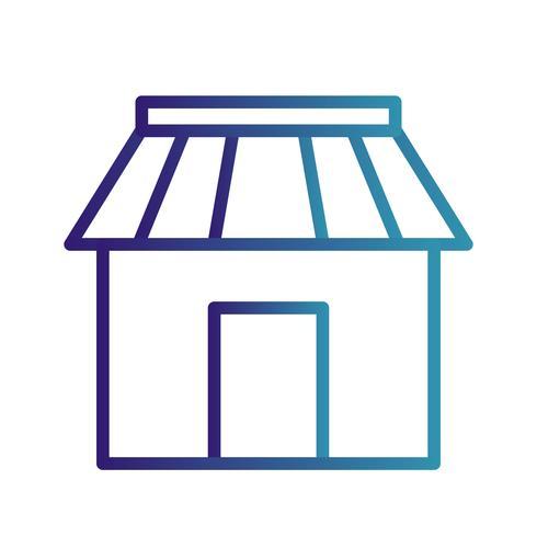 Vektor-Shop-Symbol vektor
