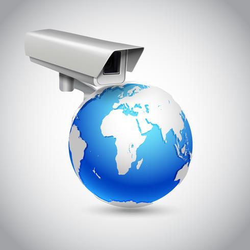 Global övervakningskoncept vektor