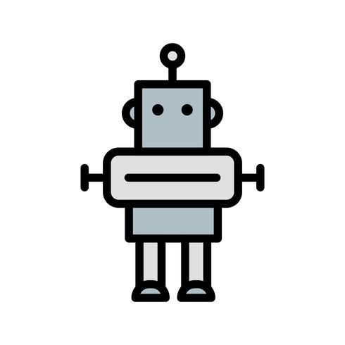 Roboter-Vektor-Symbol vektor