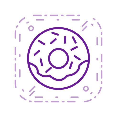 Vektor-Donut-Symbol vektor