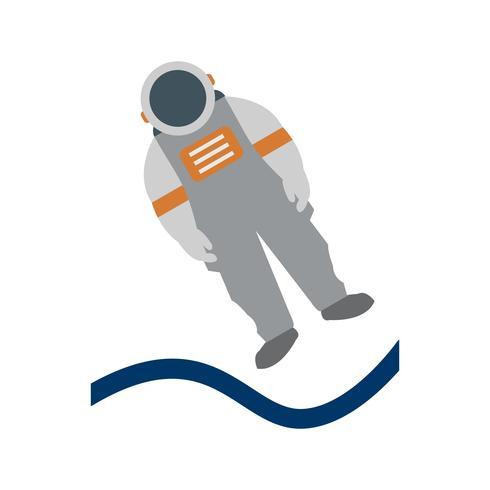 Astronout-Landungs-Vektor-Symbol vektor