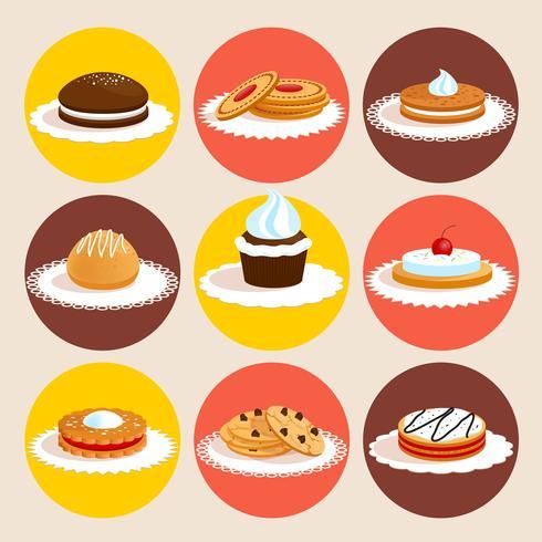 Cookies farbig gesetzt vektor
