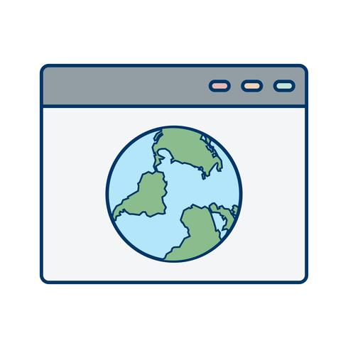 Vektor-Browser-Symbol vektor