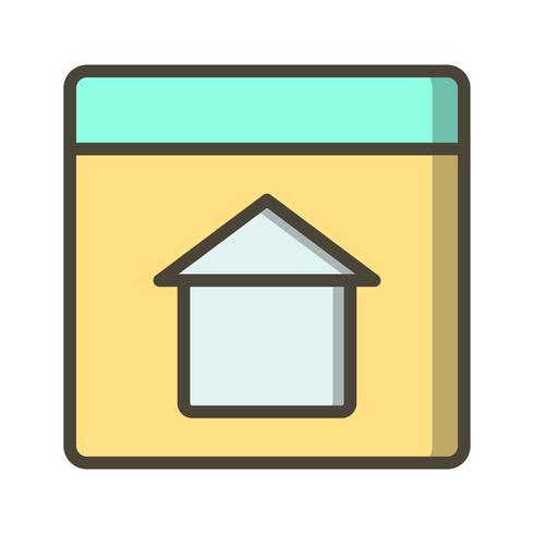 Vektor-Homepage-Symbol vektor