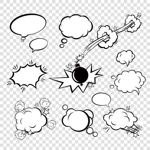 Comic-Sprechblasen vektor