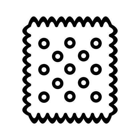 Vektor-Keks-Symbol vektor