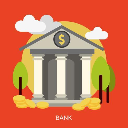 Bank konzeptionelle Abbildung Design vektor