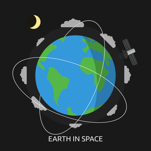 Erde im Weltraum konzeptionelle Illustration Design vektor