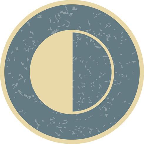 Vektor-Symbol für letztes Quartal vektor