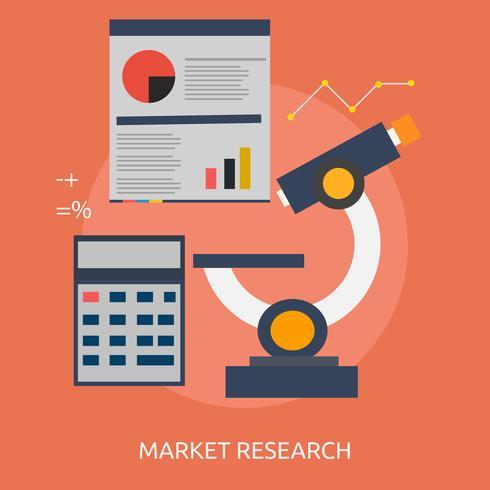 Marktforschung Konzeptionelle Darstellung vektor