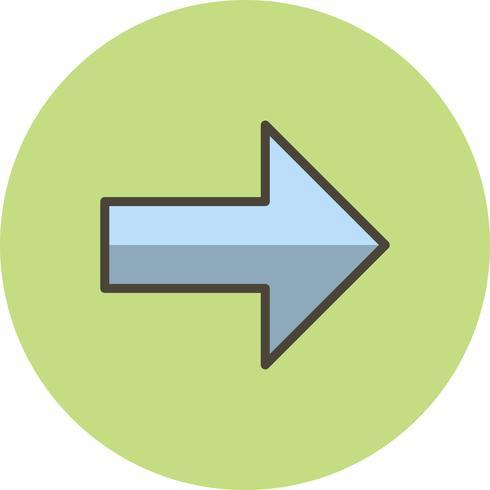 Rechte Vektor-Symbol vektor