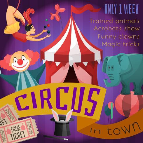 Zirkus-Retro-Poster vektor