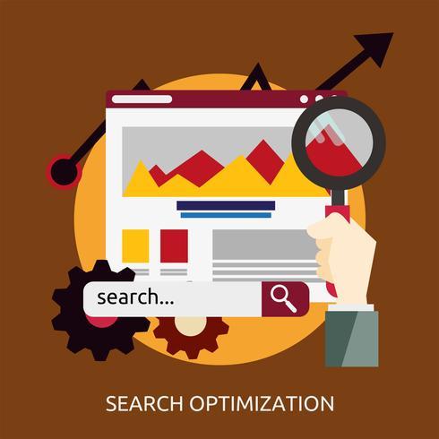 SEO Optimization Konzeptionelle Darstellung vektor