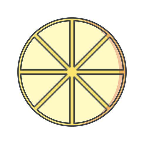 Vektor-Zitrone-Symbol vektor
