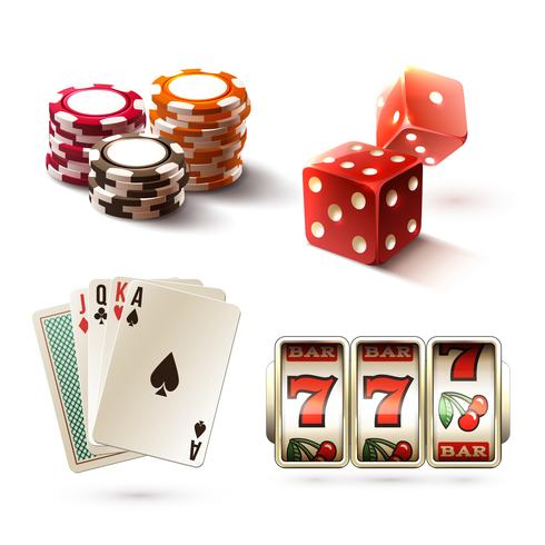 Casino-Design-Elemente vektor