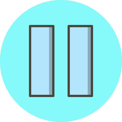 Pause-Vektor-Symbol vektor