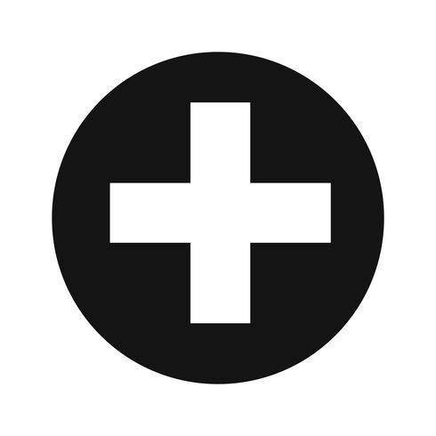 Vektor-Symbol hinzufügen vektor