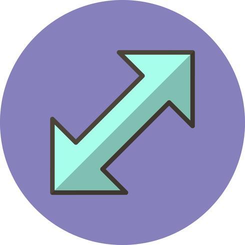 Doppelpfeil-Vektor-Symbol vektor