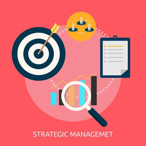 Strategisches Management Konzeptionelle Darstellung vektor