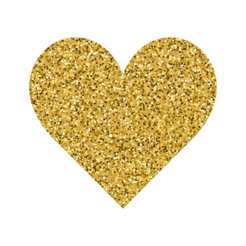Glitter Valentinsdag kärlekshjärta på en vit bakgrund. vektor