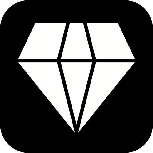Vektor-Diamant-Symbol vektor