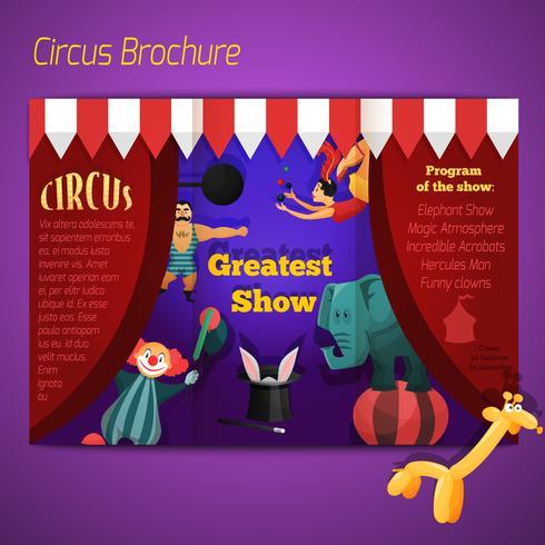 Cirkusprestanda broschyr vektor