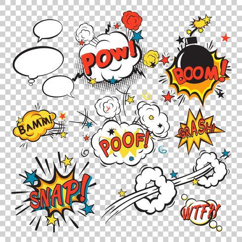 Comic Boom Set vektor