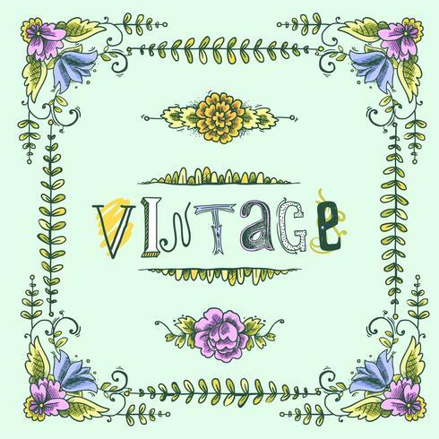 Vintage farbiger Rahmen vektor
