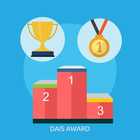 Dais Award Konceptuell illustration Design vektor