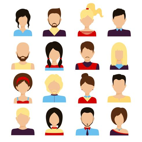Personer avatar set vektor