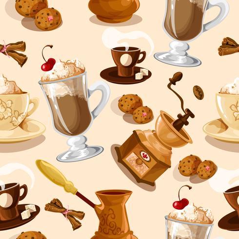 Nahtloses Muster des Kaffees vektor