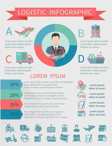 Logistische Infografiken gesetzt vektor