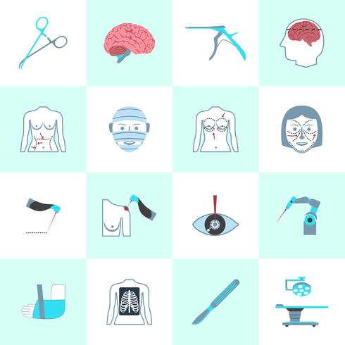 Kirurgiska ikoner vektor