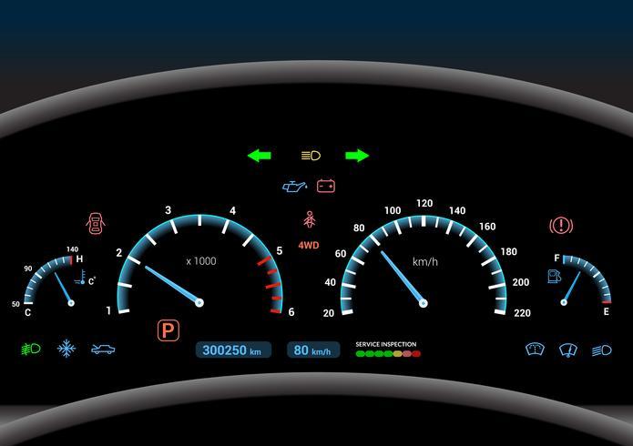 Auto Armaturenbrett Hintergrund vektor