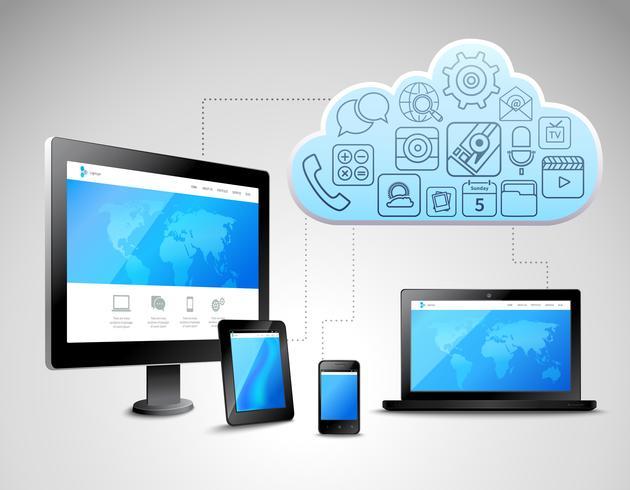 Cloud-Computing-Konzept vektor