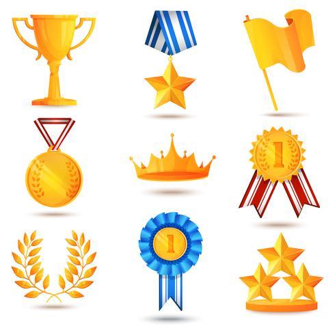 Award ikoner uppsättning vektor