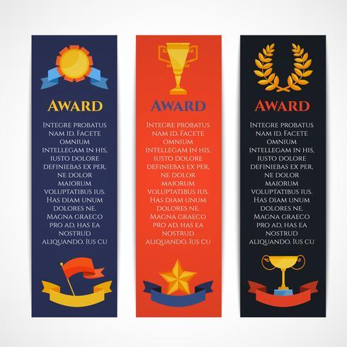 Award Banner gesetzt vektor