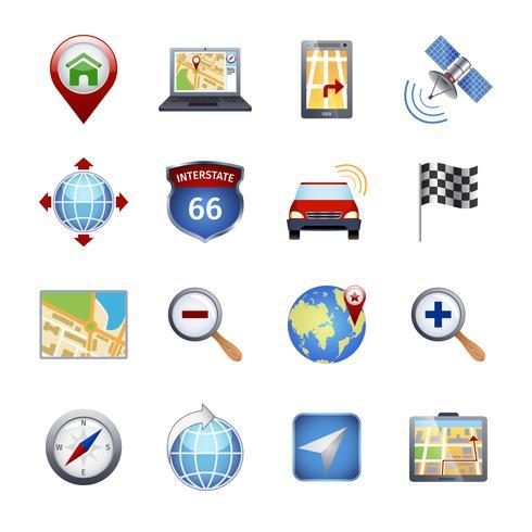 GPS-Navigationssymbole vektor