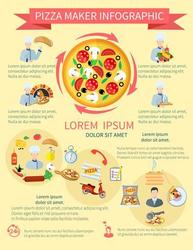 pizza maker infographics vektor