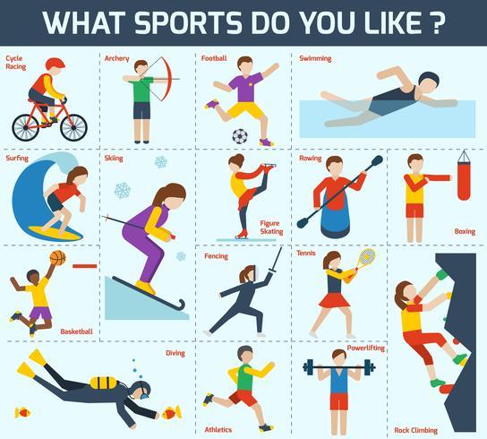 Sport ikoner Set vektor