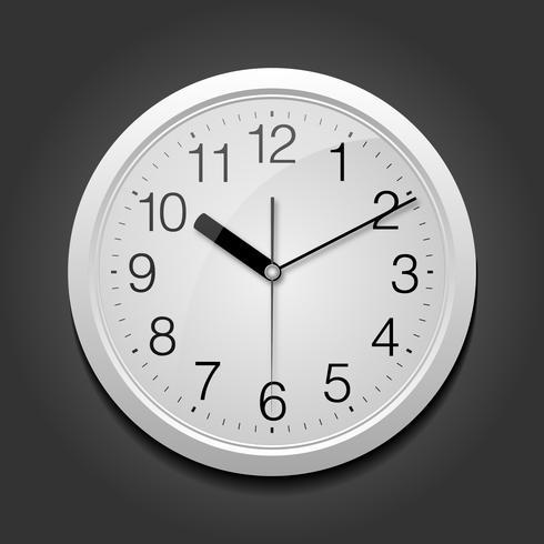 Klassisk rund klocka. vektor