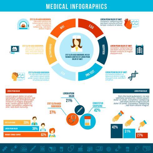 Medicinska tester infografiska vektor