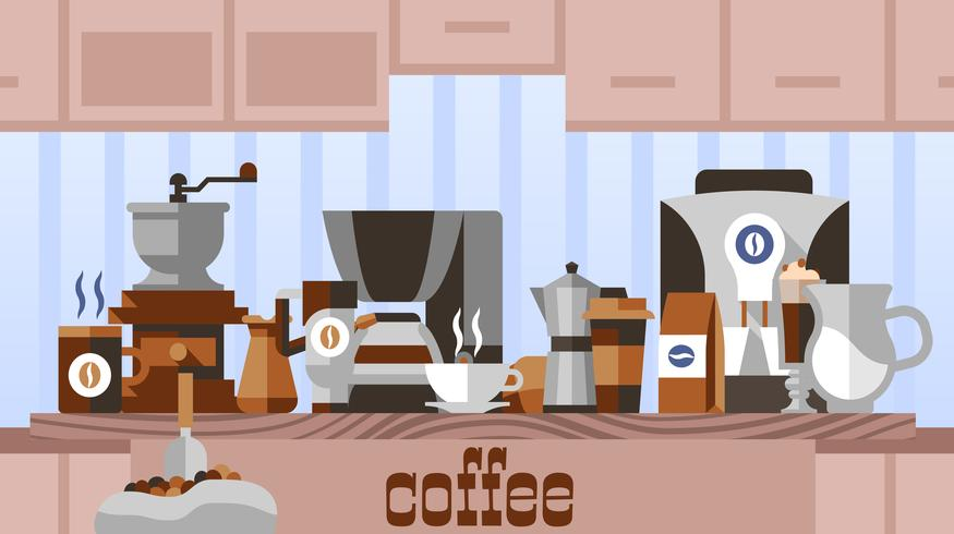Kaffehuskoncept vektor
